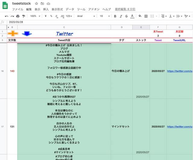 Twitter集客フル活用講座のtweetstock